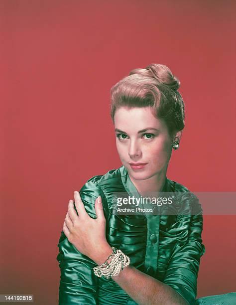 American actress Grace Kelly , circa 1955.