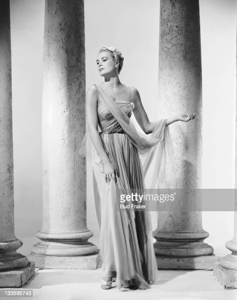 American actress Grace Kelly in a promotional portrait for 'To Catch a Thief', directed by Alfred Hitchcock, 1955.