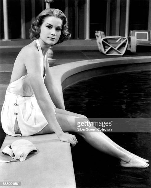 American actress Grace Kelly in costume for the film 'High Society', 1956.