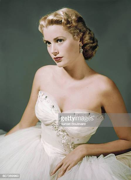 American actress Grace Kelly on the set of Dial M for Murder, directed and produced by British Alfred Hitchcok.