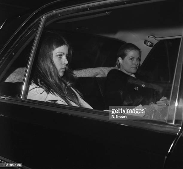American actress Grace Kelly with her daughter Caroline at London Airport UK 24th January 1973