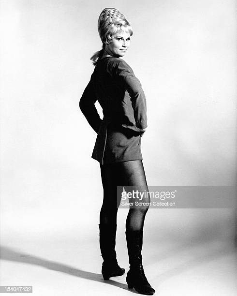 American actress Grace Lee Whitney as Yeoman Janice Rand in the TV science fiction series 'Star Trek' circa 1967