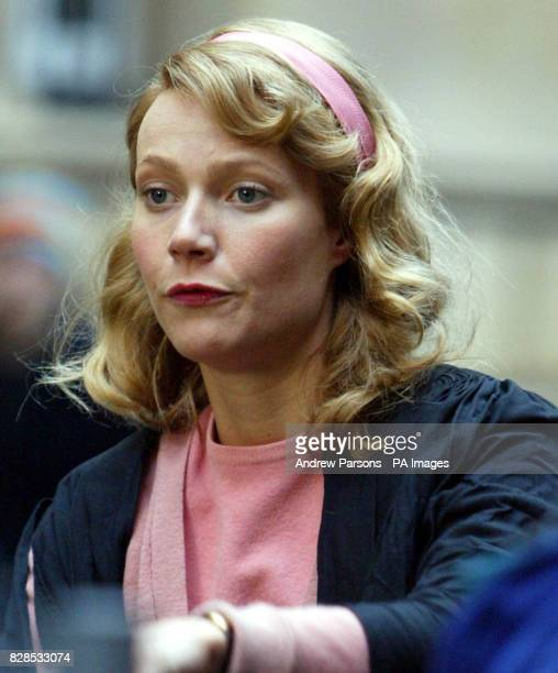 American actress Gwyneth Paltrow during shooting of her new film Sylvia in and around the colleges of Cambridge The film tells the story of the...