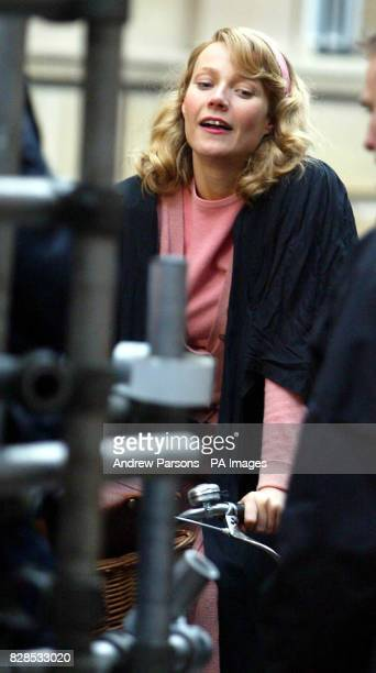 American actress Gwyneth Paltrow during shooting of her new film Ted and Sylivia in and around the colleges of Cambridge The film tells the story of...