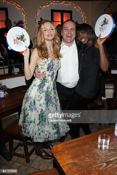 American actress Heather Graham, Pascal Vicedomini and Singer Estelle attend the second day of the 13th Annual Capri Hollywood International Film...