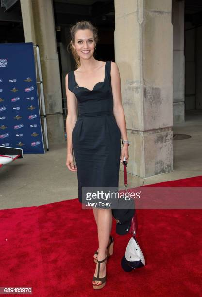 American actress Hilarie Burton attends the 101st Indianapolis 500 at Indianapolis Motor Speedway on May 28 2017 in Indianapolis Indiana