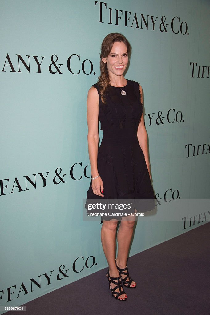 American actress Hilary Swank attends the Tiffany & Co Flagship Opening on the Champs Elysee on June 10, 2014 in Paris, France.