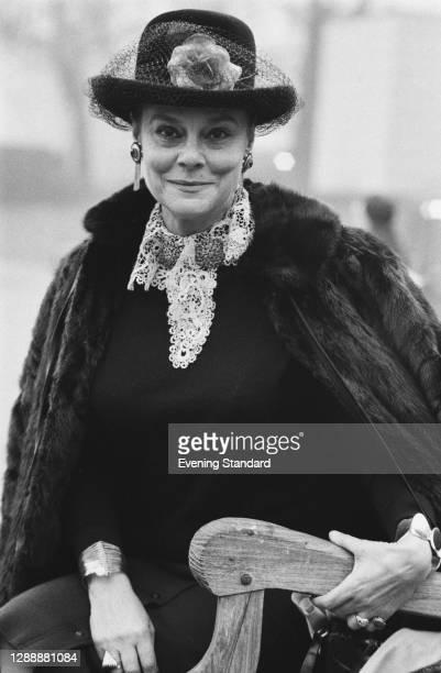 American actress Irene Worth , UK, December 1971.