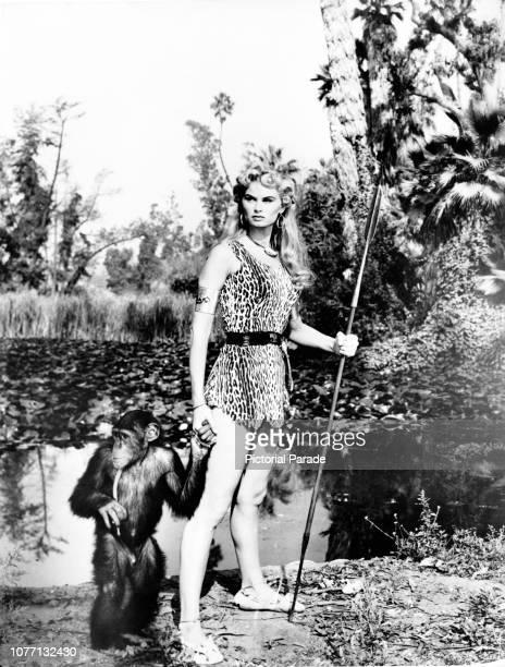 American actress Irish McCalla as Sheena in the television series 'Sheena Queen of the Jungle' circa 1955