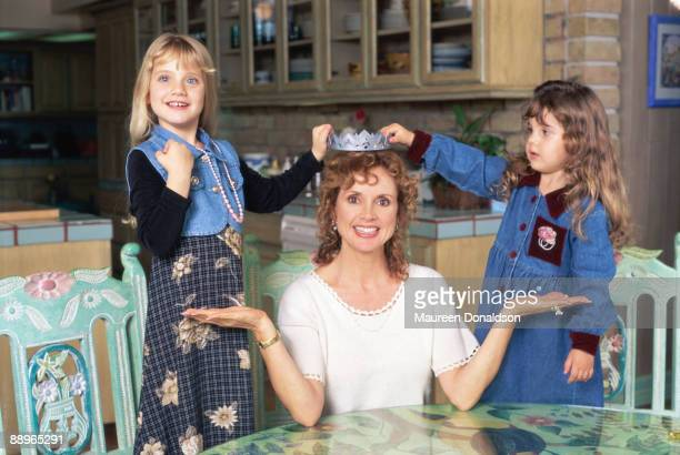 American actress Jacklyn Zeman with her daughters Cassidy and Lacey, 1995. Zeman is best known for her role as Bobbie Spencer on the long-running...