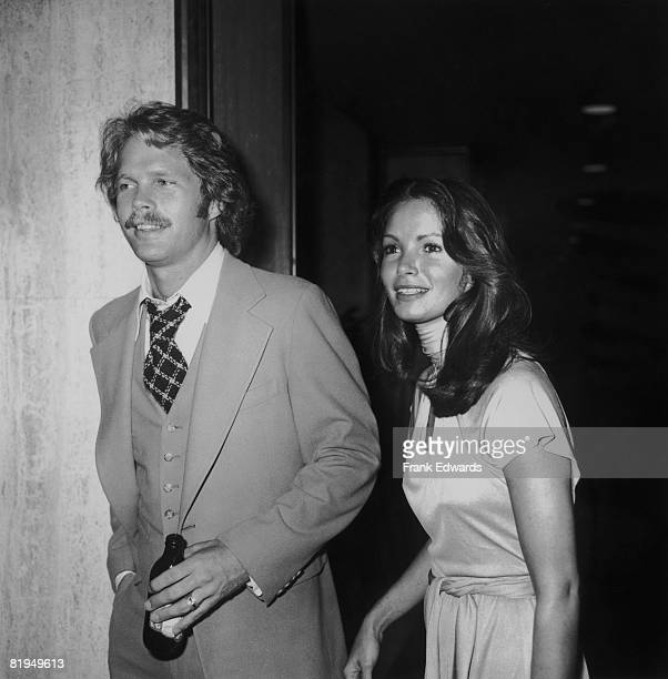 American actress Jaclyn Smith and actor Reid Smith attend an ABC TV convention dinner at the Century Plaza Hotel in Los Angeles May 1976