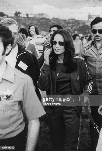 American actress Jaclyn Smith at a celebrity sports event held at Pepperdine University Malibu California circa 1975