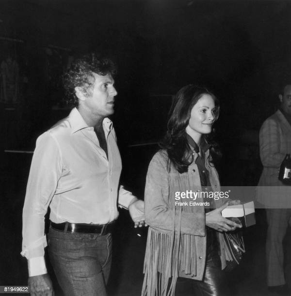American actress Jaclyn Smith attends a Share function with Alan Austin May 1975