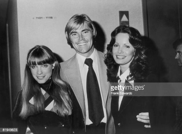 American actress Jaclyn Smith with actor Dennis Cole and actress Nancy Fox at a party for producer and casting executive Renee Valente at the BCI...