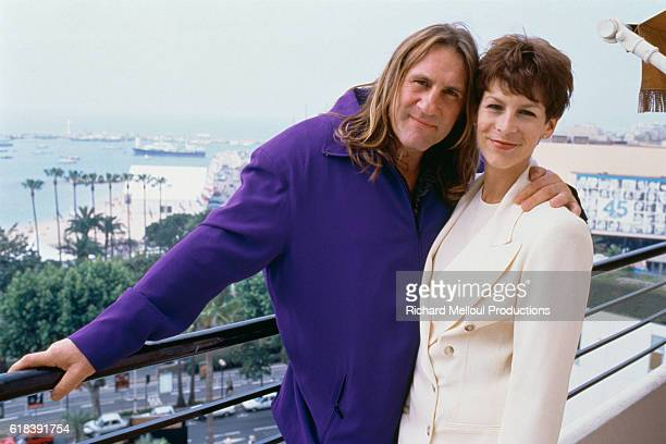 American actress Jamie Lee Curtis and French actor Gerard Depardieu this years Cannes Film Festival President