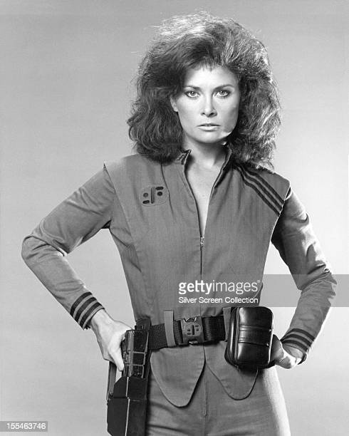 American actress Jane Badler as Diana in the US TV science fiction series 'V' 1983