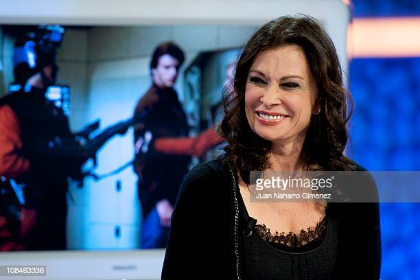 American actress Jane Badler attends 'El Hormiguero' Tv Show at Vertice Studios on January 27 2011 in Madrid Spain