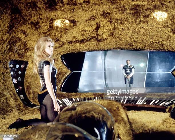 American actress Jane Fonda as Barbarella in the science fiction film 'Barbarella' 1968