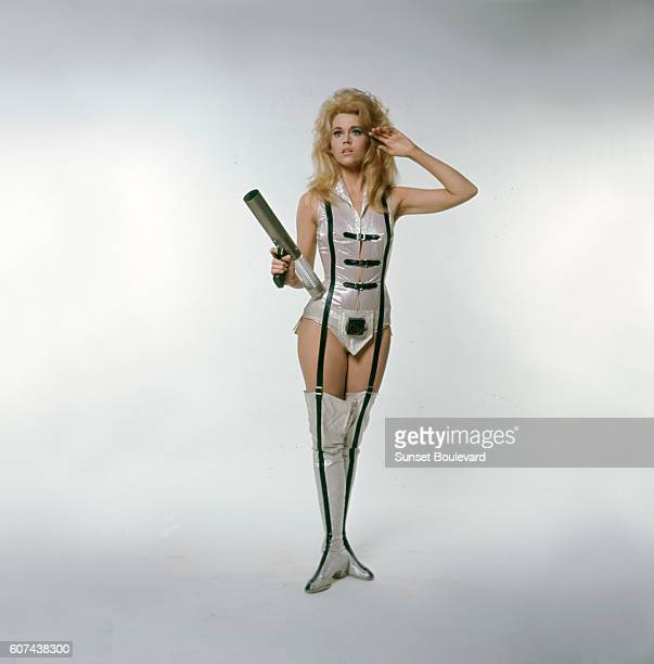 American actress Jane Fonda on the set of Barbarella based on the comic by JeanClaude Forest and directed by Roger Vadim