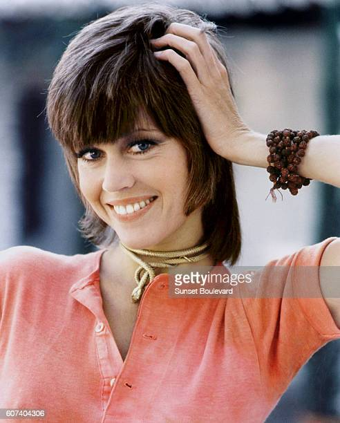 American actress Jane Fonda on the set of Klute directed by Alan J Pakula