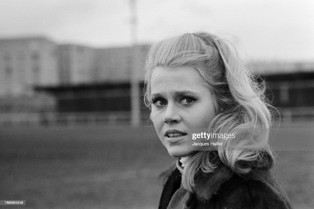 American actress Jane Fonda on the set of La CurÌÄå©e, based on the novel by Emile Zola and directed by Roger Vadim.