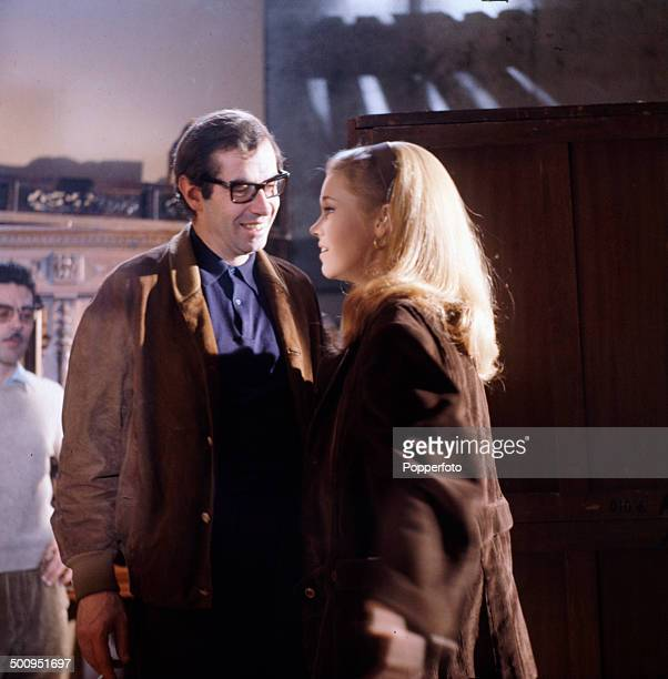 American actress Jane Fonda pictured with her husband film director and producer Roger Vadim in 1966