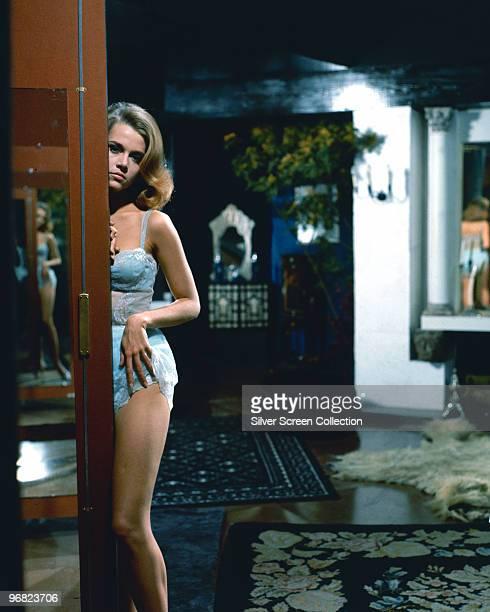 American actress Jane Fonda stars in 'Les Felins' 1964