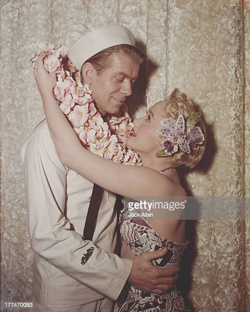American actress Jane Powell and actor Gene Nelson iin the Warner Brothers film 'Three Sailors and A Girl' 1953