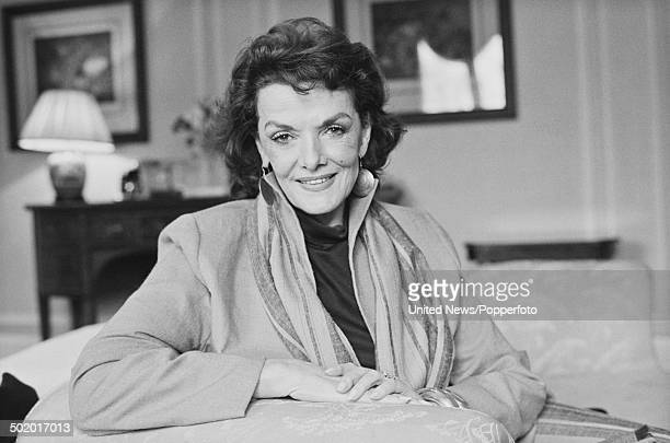 American actress Jane Russell in London on 7th March 1986