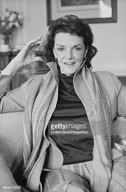 American actress Jane Russell posed in London on 7th March 1986