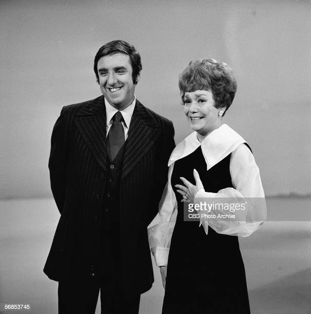 American actress Jane Wyman and host Jim Nabors share a smile in a publicity photo on the set of the variety series 'The Jim Nabors Hour' December 4...