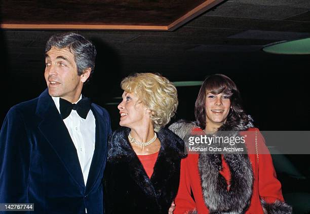 American actress Janet Leigh her husband Robert Brandt and daughter Jamie Lee Curtis during an AFI Tribute To Orson Welles at the Century Plaza Hotel...