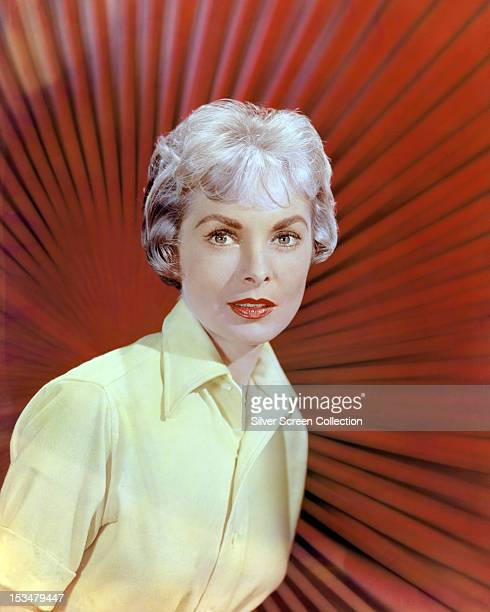 American actress Janet Leigh in a yellow shirt circa 1955