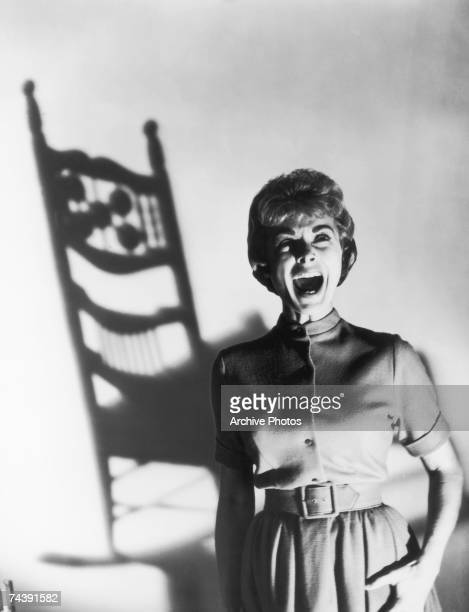 American actress Janet Leigh performs one of her famous screams in a publicity still for the horror classic 'Psycho' directed by Alfred Hitchcock 1960