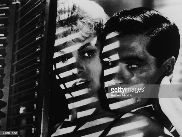 American actress Janet Leigh stars as Marion Crane, with John Gavin as her boyfriend Sam Loomis, in the horror classic 'Psycho', directed by Alfred...