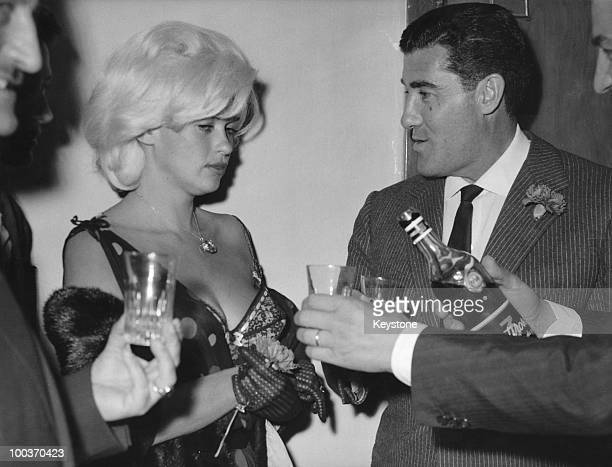 American actress Jayne Mansfield with her husband Mickey Hargitay at a nightclub in Rome 13th June 1962