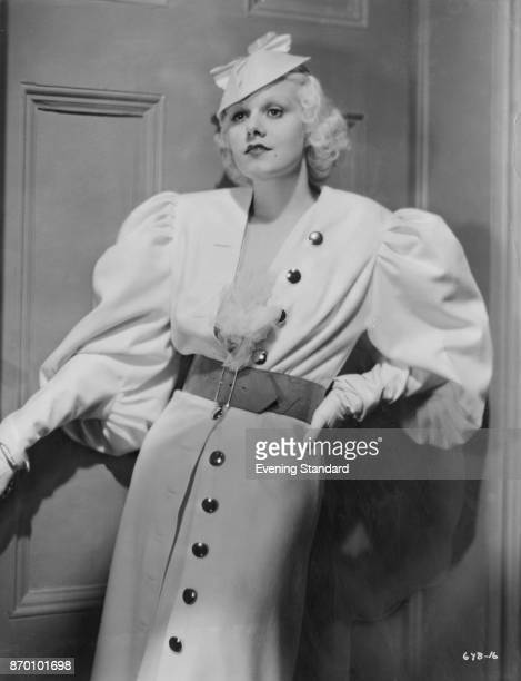 American actress Jean Harlow as she appears in the MGM film 'Hold Your Man' 1933