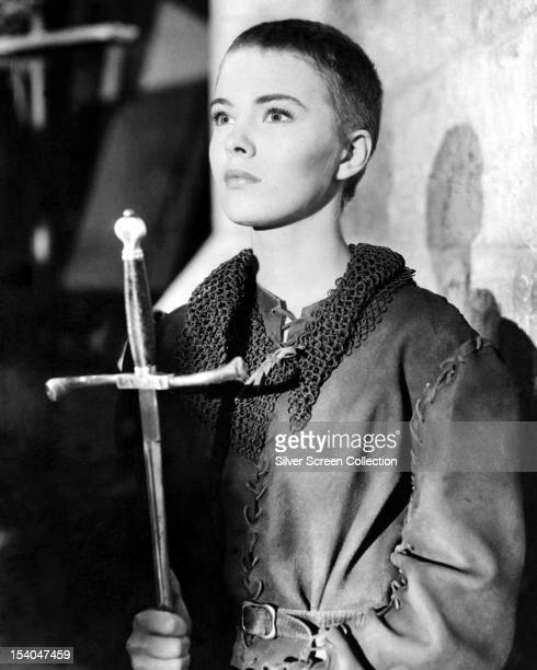 American actress Jean Seberg as Joan of Arc in 'Saint Joan', directed by Otto Preminger, 1957.