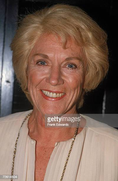 American actress Jeanne Cooper star of the longrunning American TV soap 'The Young and the Restless' attends a party at La Petite Maison to celebrate...