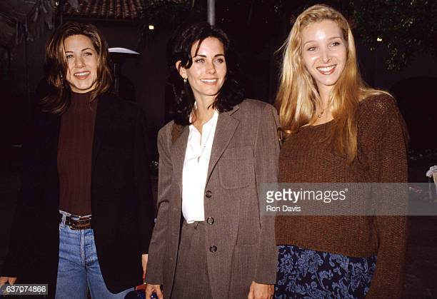 American actress Jennifer Aniston American actress Courteney Cox and American actress Lisa Kudrow of the television comedy Friend's circa 1995