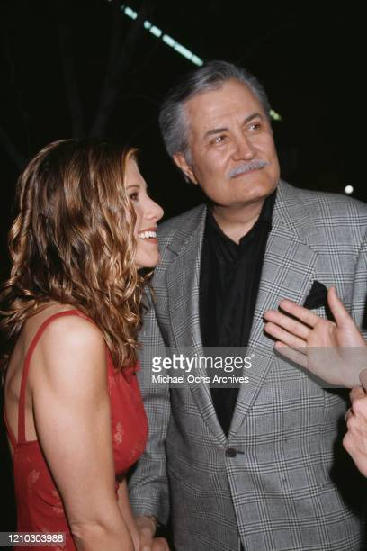 American actress Jennifer Aniston and her father actor John Aniston attend the premiere of The Object Of My Affection in Westwood California US 9th...