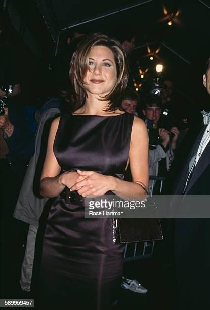 American actress Jennifer Aniston attends the Seventh on Sale Gala opening USA circa 1995