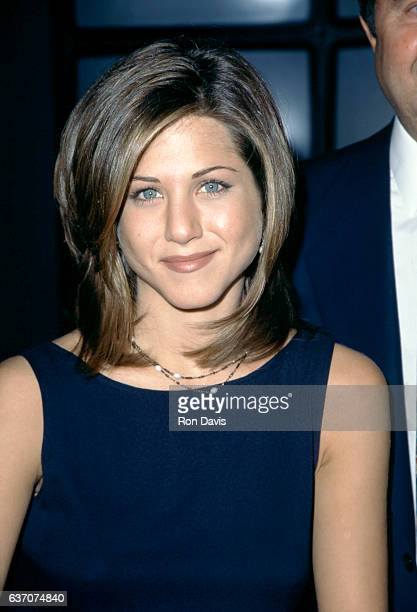 American actress Jennifer Aniston of the television comedy Friend's attends the 1995 NBC Fall Preview circa 1995 at the Lincoln Center in New York...