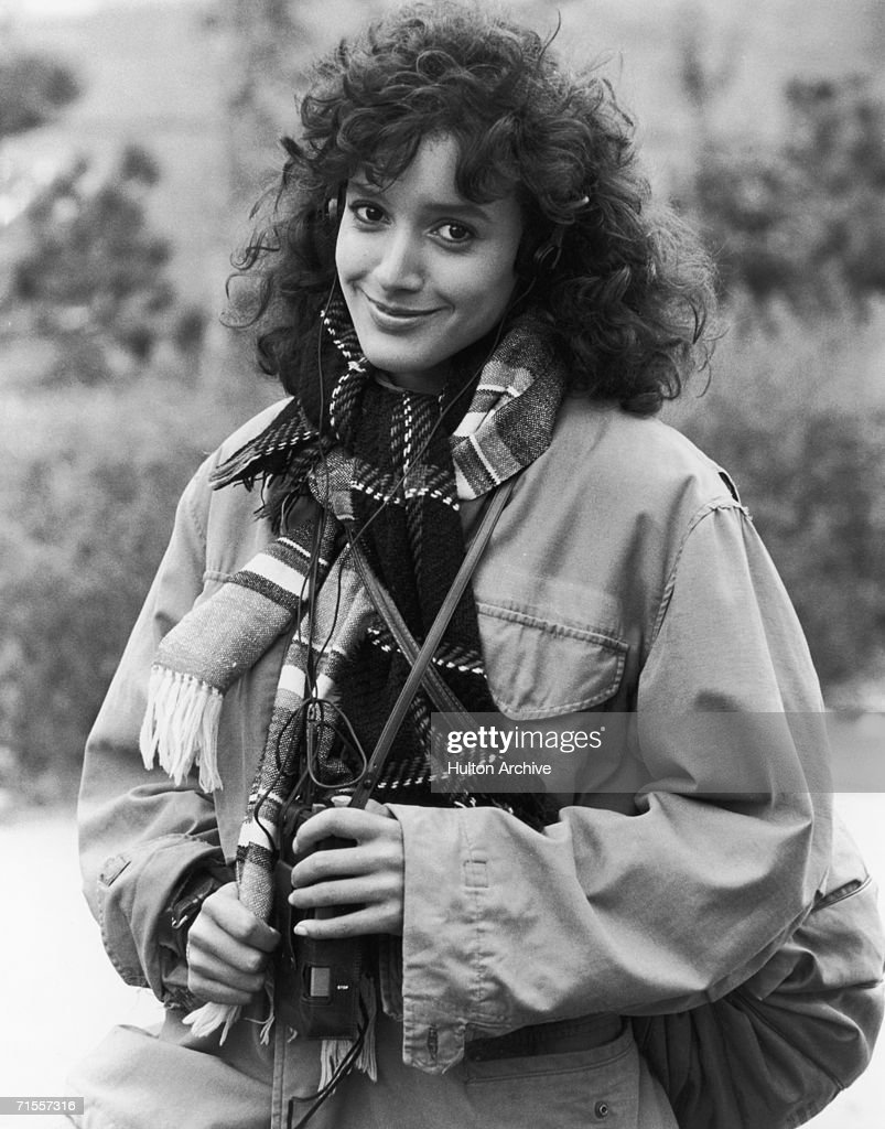 American actress Jennifer Beals listening to a Walkman, circa 1983.
