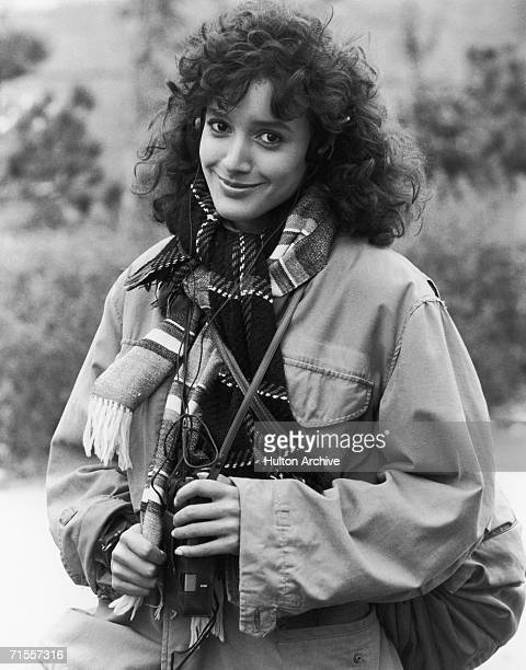 American actress Jennifer Beals listening to a Walkman circa 1983