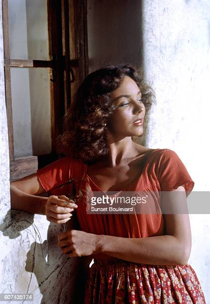 American actress Jennifer Jones on the set of Duel in the Sun directed by King Vidor