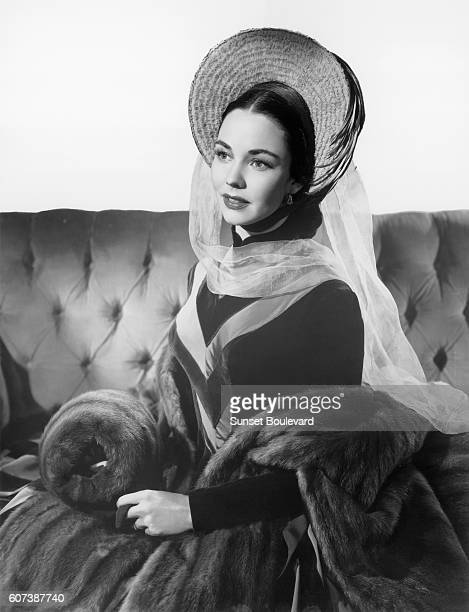 American actress Jennifer Jones on the set of Madame Bovary based on the novel by Gustave Flaubert and directed by Vincente Minnelli