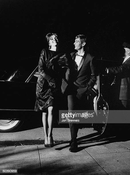 American actress Jeri Elam arriving at the film festival with an escort