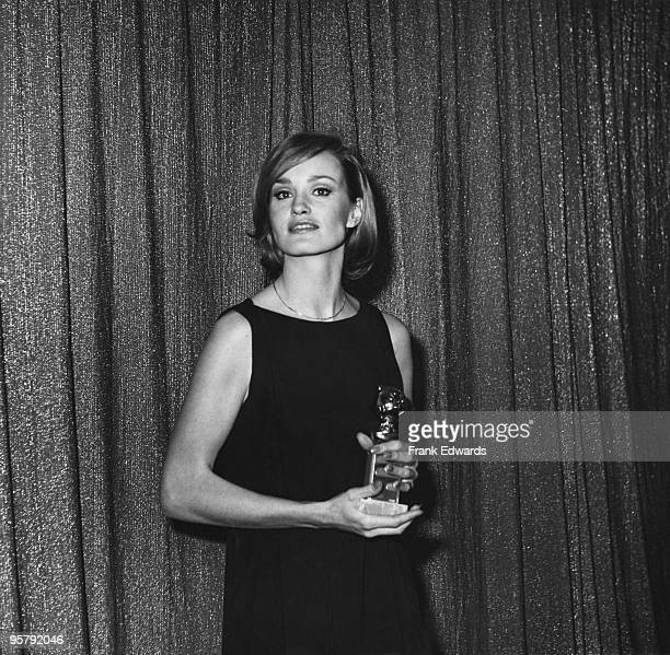 American actress Jessica Lange at the 34th Golden Globe Awards held at the Beverly Hilton Hotel in Beverly Hills 29th January 1977 She has just won...