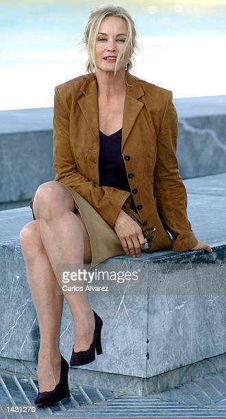 American actress Jessica Lange attends the 50th San Sebastian International Film Festival September 25 2002 at Kursaal Palace in San Sebastian Spain